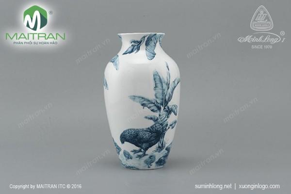 Bình hoa gốm sứ Minh Long Bình hoa Hạnh Phúc 27 cm