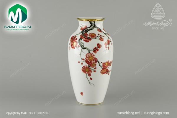 Bình hoa gốm sứ Minh Long Bình hoa Hoa Đào