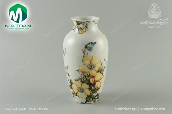 Bình hoa gốm sứ Minh Long Bình hoa Kiêu sa