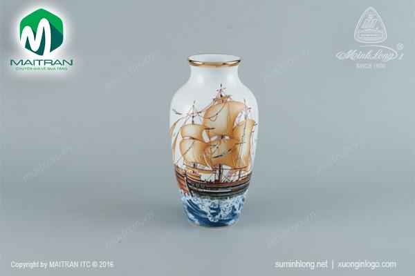 Bình hoa gốm sứ Minh Long Bình hoa Thuận Buồm
