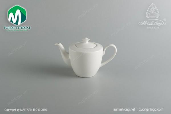 Ly's Horeca gốm sứ Minh Long Bình trà gốm sứ Minh Long Daisy 0.45L + nắp