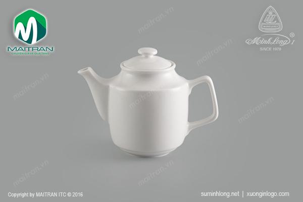 Bình trà gốm sứ Minh Long Jasmine 0.7L + nắp