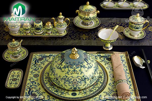 Bộ bàn ăn Hoàng Liên 29 sản phẩm
