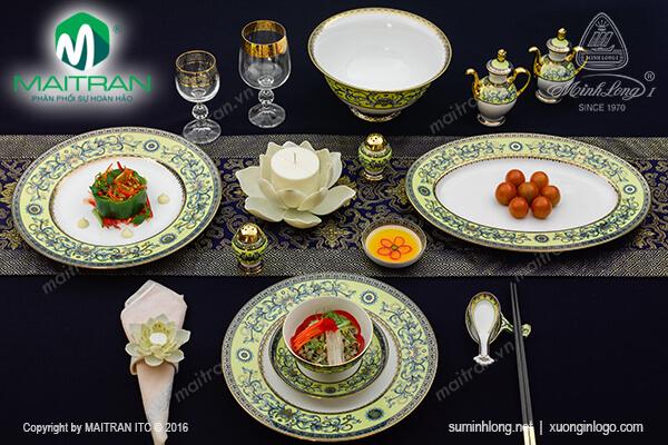 Bộ bàn ăn Hoàng Liên 40 sản phẩm