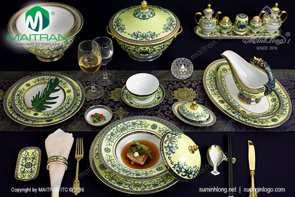 Bộ bàn ăn Hoàng Liên 82 sản phẩm