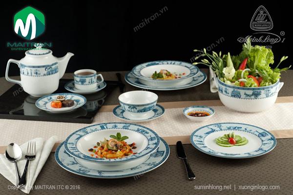 Bộ bàn ăn 9 sản phẩm Thôn Dã