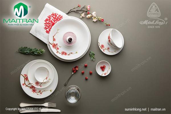 Bộ bàn ăn 10 sp Daisy IFP Hoàng Đào