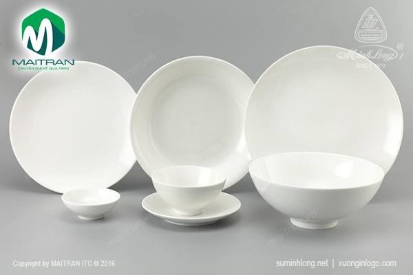 Bộ bàn ăn 11 sản phẩm Daisy IFP trắng