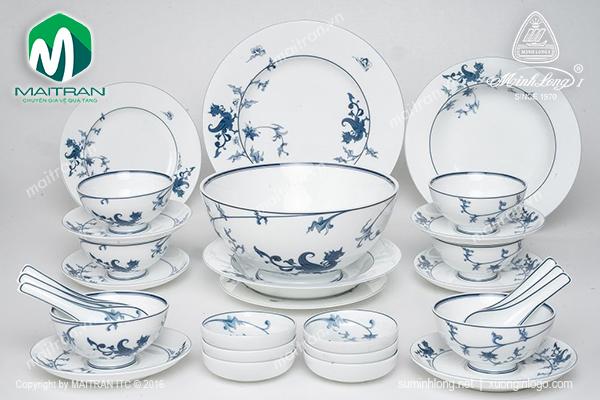 Bộ bàn ăn Hoàng Cung Lạc Hồng 30 sp