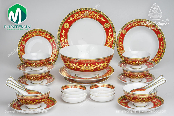 Bộ bàn ăn Hoàng Cung Quốc Sắc 30 sp