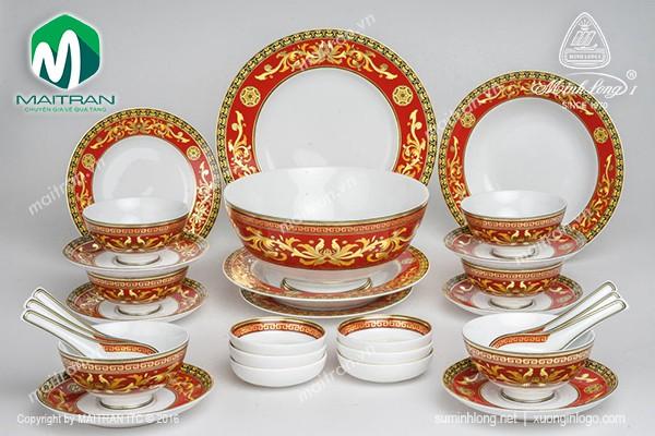Bộ bàn ăn gốm sứ Minh Long Bộ bàn ăn Hoàng Cung Quốc Sắc 30 sp