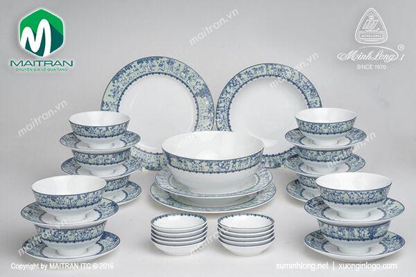 Bộ bàn ăn 35 sp Jasmine Vinh Quy Nhạt