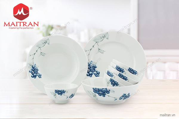 Bộ bàn ăn Jasmine Việt Quất 9sp