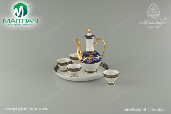 Bộ trà gốm sứ Minh Long Bộ khay rượu Thiên Hương