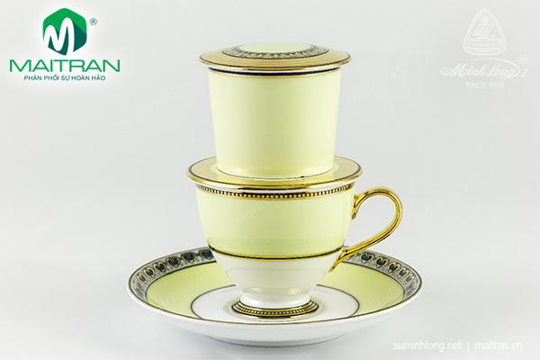Bộ phin trà nghệ thuật Hoàng Kim