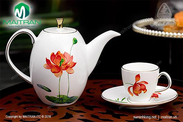 Bộ trà 0.47L Anna Cao Hương Sen