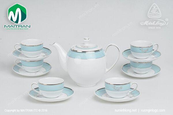 Bộ trà 0.8L Camellia Hương Biển Xanh