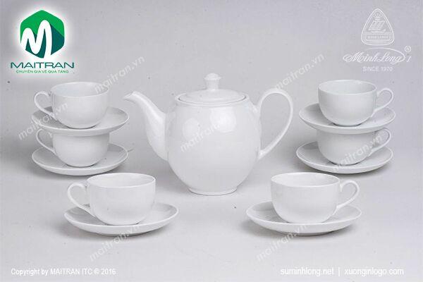 Bộ trà 0.8L Camellia trắng