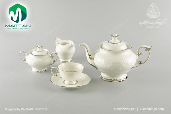 Bộ trà 1.3L Đài Các Chỉ Bạch Kim