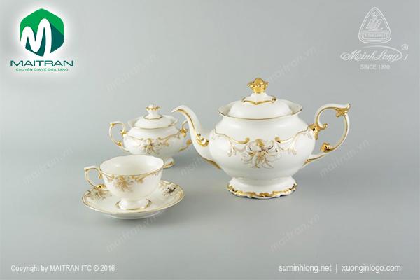 Bộ trà 1.3L Đài Các Hoa Vàng