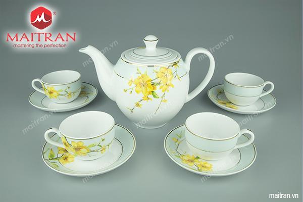 Bộ trà 0.8L Camellia Hoa Mai