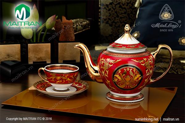 Bộ trà 0.8L Hoàng Cung Quốc Sắc