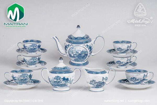 Bộ trà gốm sứ Minh Long Bộ trà 1.3L Hồn Việt