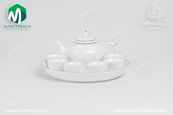 Bộ trà  0.35L Jasmine chỉ xanh lá