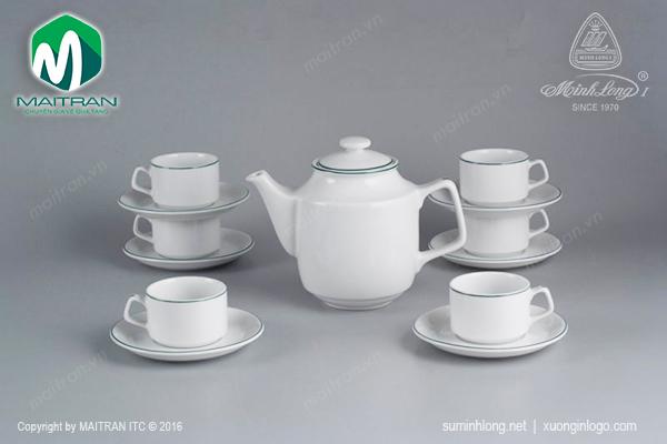 Bộ trà  0.7L Jasmine chỉ xanh lá