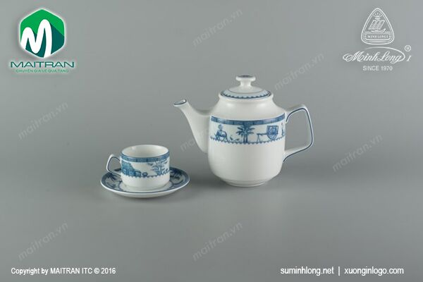 Bộ trà 0.7L Jasmine Thôn Dã