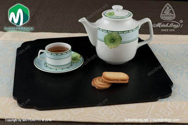 Bộ trà gốm sứ Minh Long Bộ trà 1.1L Jasmine Tích Tuyết Thảo