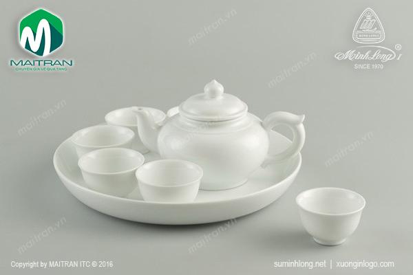 Bộ trà 0.35L Jasmine trắng
