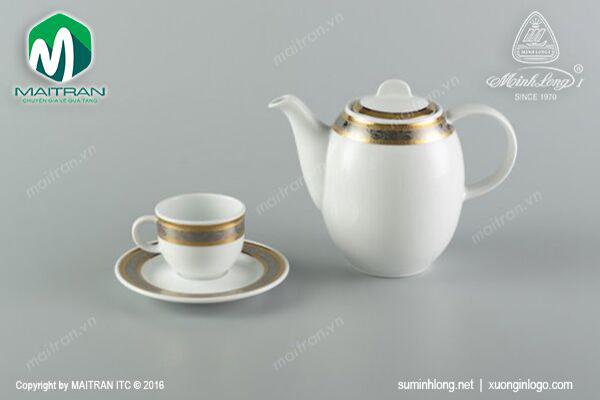 Bộ trà 0.8L Sago Hoa Hồng