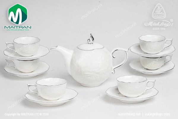 Bộ trà 0.7L Sen IFP chỉ bạch kim