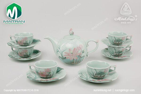 Bộ trà 0.7L Sen Màu