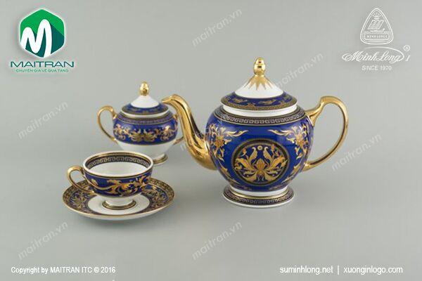 Bộ trà gốm sứ Minh Long Bộ trà 1.3L Thiên Hương