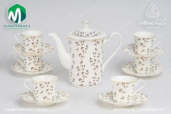 Bộ trà gốm sứ Minh Long Bộ trà 0.8L Tulip Awakening