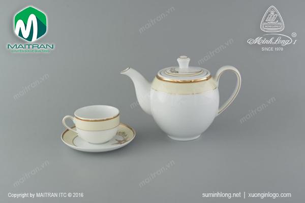 Bộ trà 0.8L Camellia Hương Biển Kem