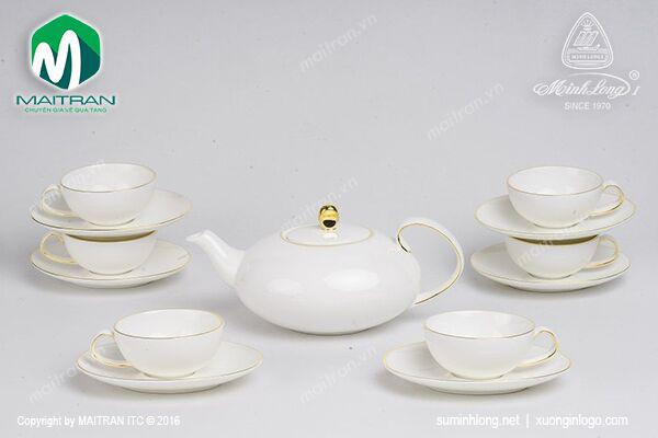 Bộ trà 0.47L Elip Anna chỉ vàng