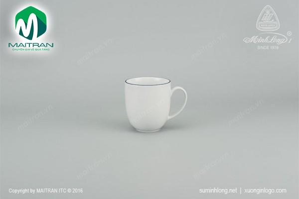 Ca gốm sứ Minh Long Ca Camellia Chỉ Xanh Dương 0.4L