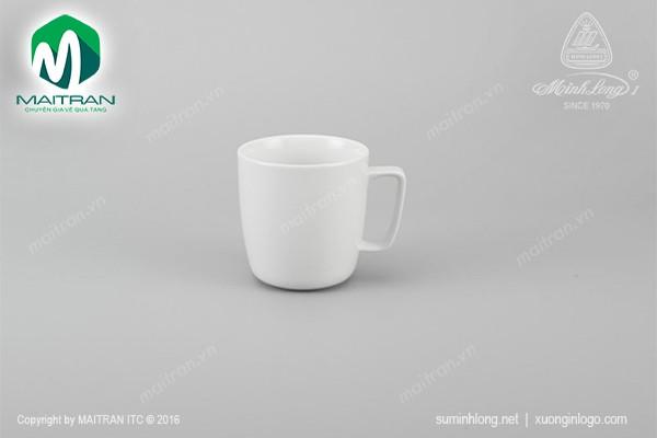 Ca gốm sứ Minh Long Ca Jasmine trắng 0.38L