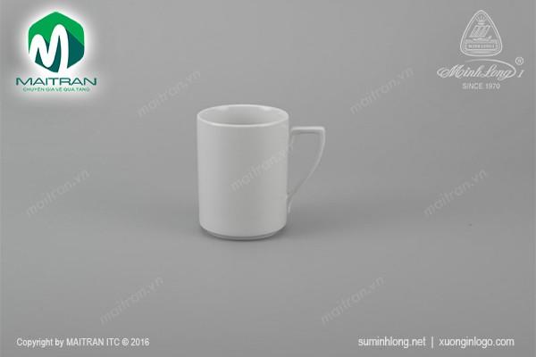 Ca gốm sứ Minh Long Ca Quai số 7 0.33L Jasmine trắng