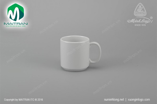 Ca gốm sứ Minh Long Ca Quai tròn 0.35L Jasmine trắng