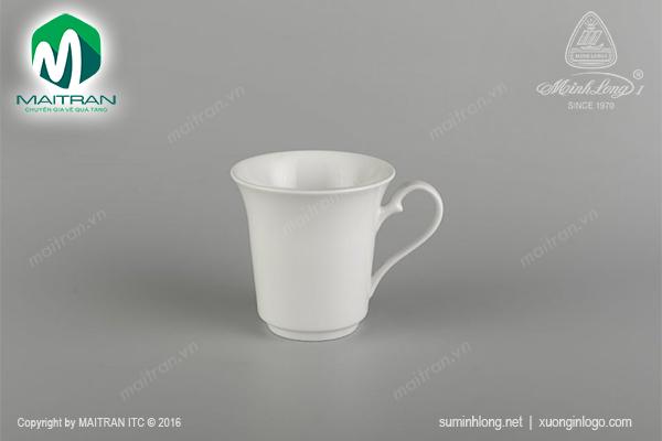 Ca Tulip trắng (quai tròn) 0.35 L