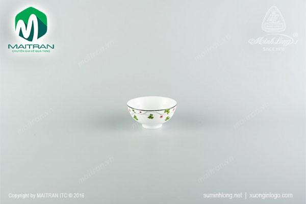 Chén gốm sứ Minh Long Chén Jasmine Hoa may mắn 11 cm