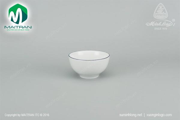 Chén gốm sứ Minh Long Chén Camellia Chỉ xanh dương 12 cm