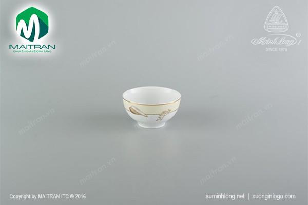 Chén gốm sứ Minh Long Chén Camellia Hương Biển Kem 12 cm