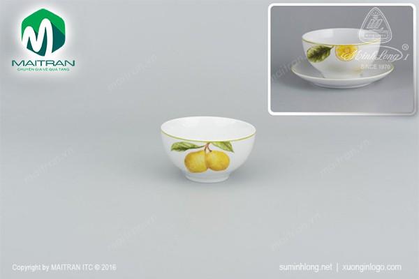 Chén gốm sứ Minh Long Chén Camellia Quả chanh 12 cm