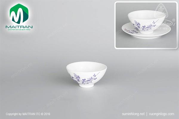 Chén gốm sứ Minh Long Chén Daisy Cỏ Tím 11 cm