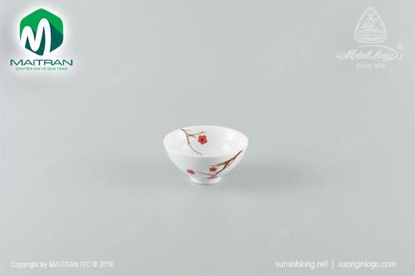Chén gốm sứ Minh Long Chén Daisy Hồng Mai 11 cm